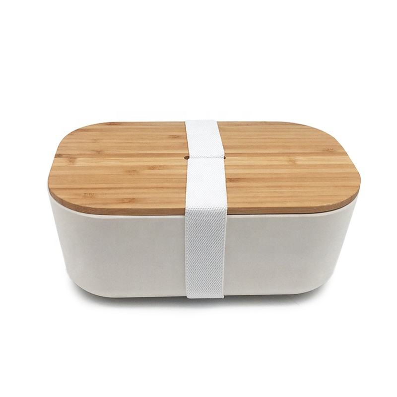 eco friendly dinner containers Naturally living bamboo fibre food storage custom made bamboo wooden lunch box