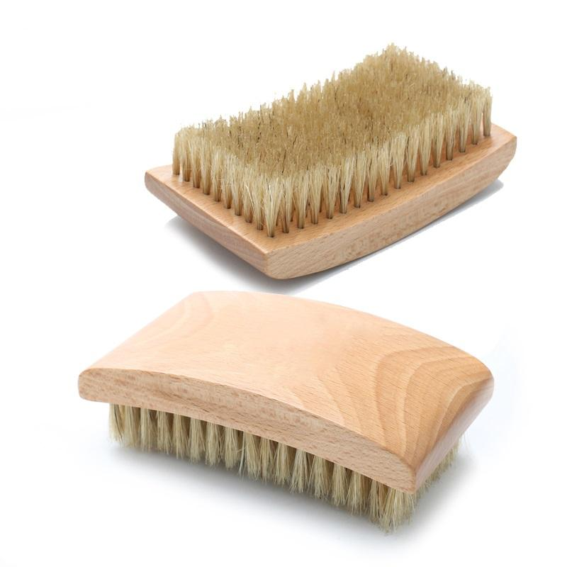 High quality 360 curve wave 100% beard baor bristle hair brush custom logo beard brush