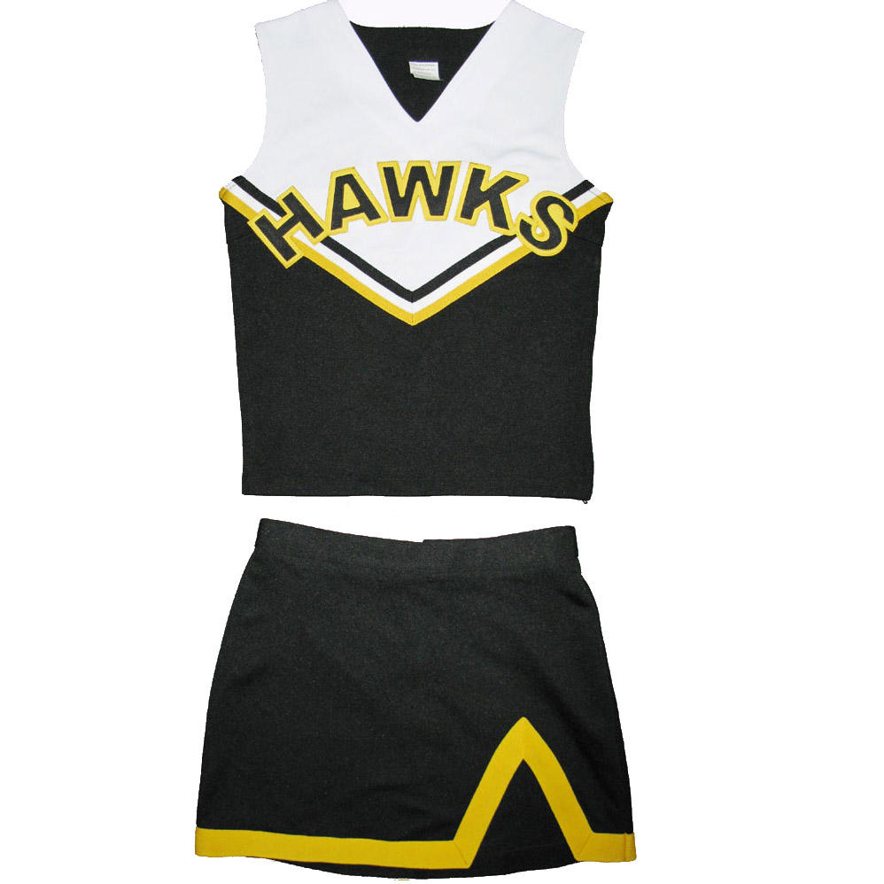Shell tops en rokken goedkope cheerleading uniform cheerleader uniformen kostuums