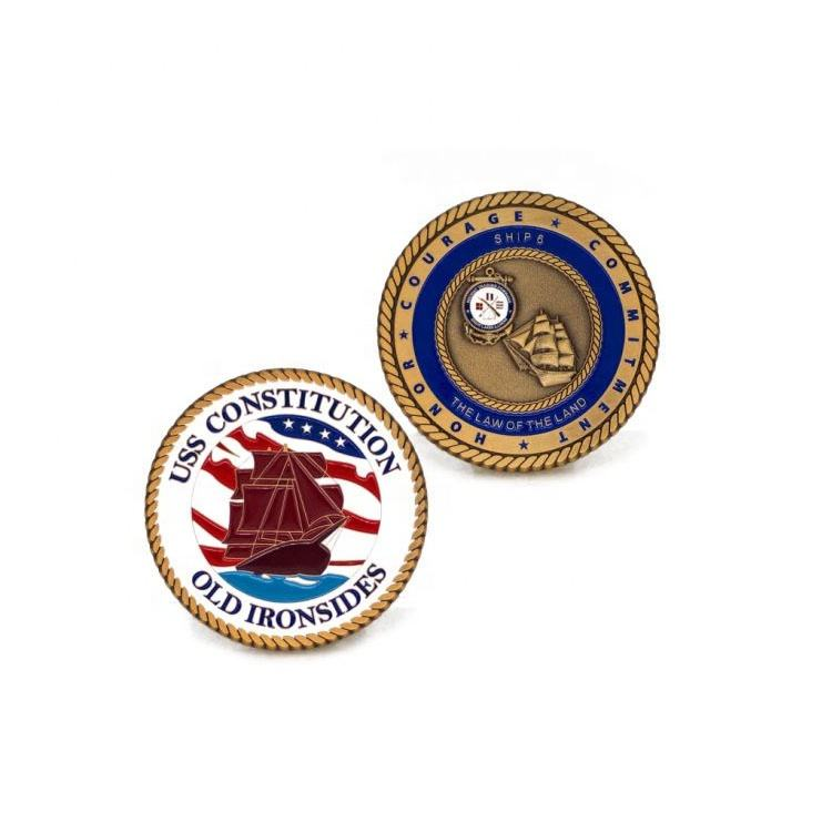 Custom Folk Style US Navy Souvenir Coins Event Metal Round Coin Medal Badge