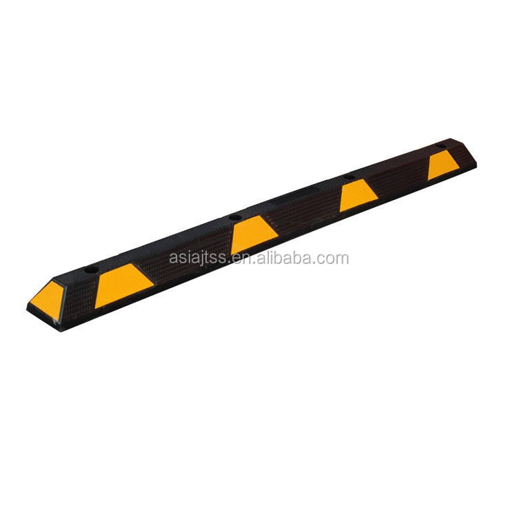 Black & Yellow 1.83 Meter Rubber Wheel Stopper Car Parking Lot Equipment