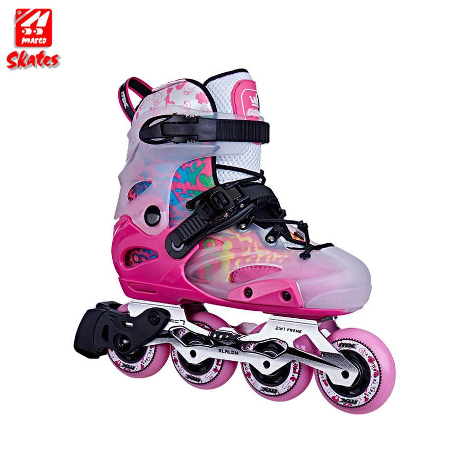 ショップローラースラロームインラインスケートカスタム 2 で 1 子供靴大人クワッドスケート