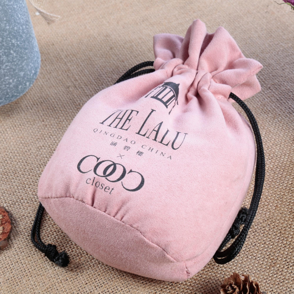 Recyclable [ Pouch Velvet Pouches ] Pouches Velvet High Quality Pink Drawstring Jewelry Pouch Velvet Bag Jewelry Pouches