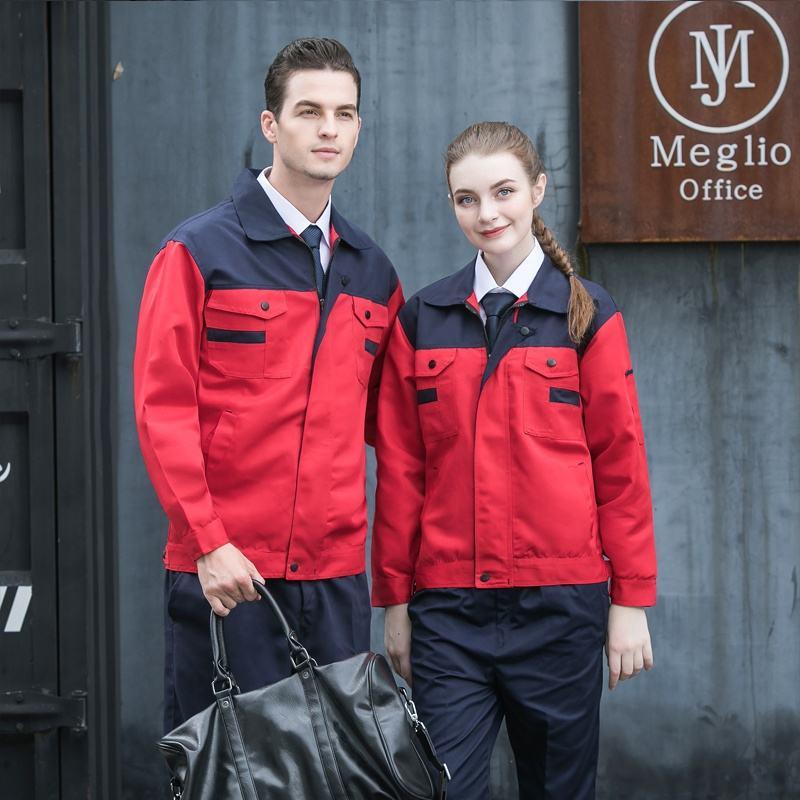 Pinghu TIMES 2019 OEM дизайн для иностранных заводских рабочих носить тефлон и анти-усадки один комплект Рабочая куртка