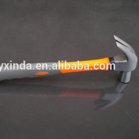 drop forged steel head claw hammer with wooden/plastic-coating/fibre glass handle