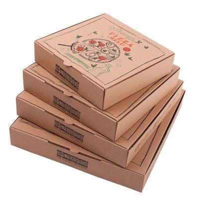 Высокое Качество пищевая упаковка гофрированные оптовые коробки для пиццы