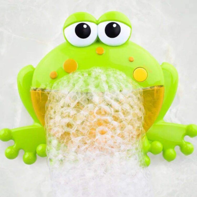 Wholesale Simple Operation Bubble Machine Kids Cute Cartoon Frog Bathing Toy Frog Crab Bubble Machine