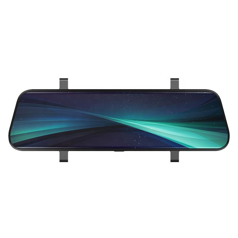 Dual 1080P rear view mirror car black box with high definition and wide angle lens