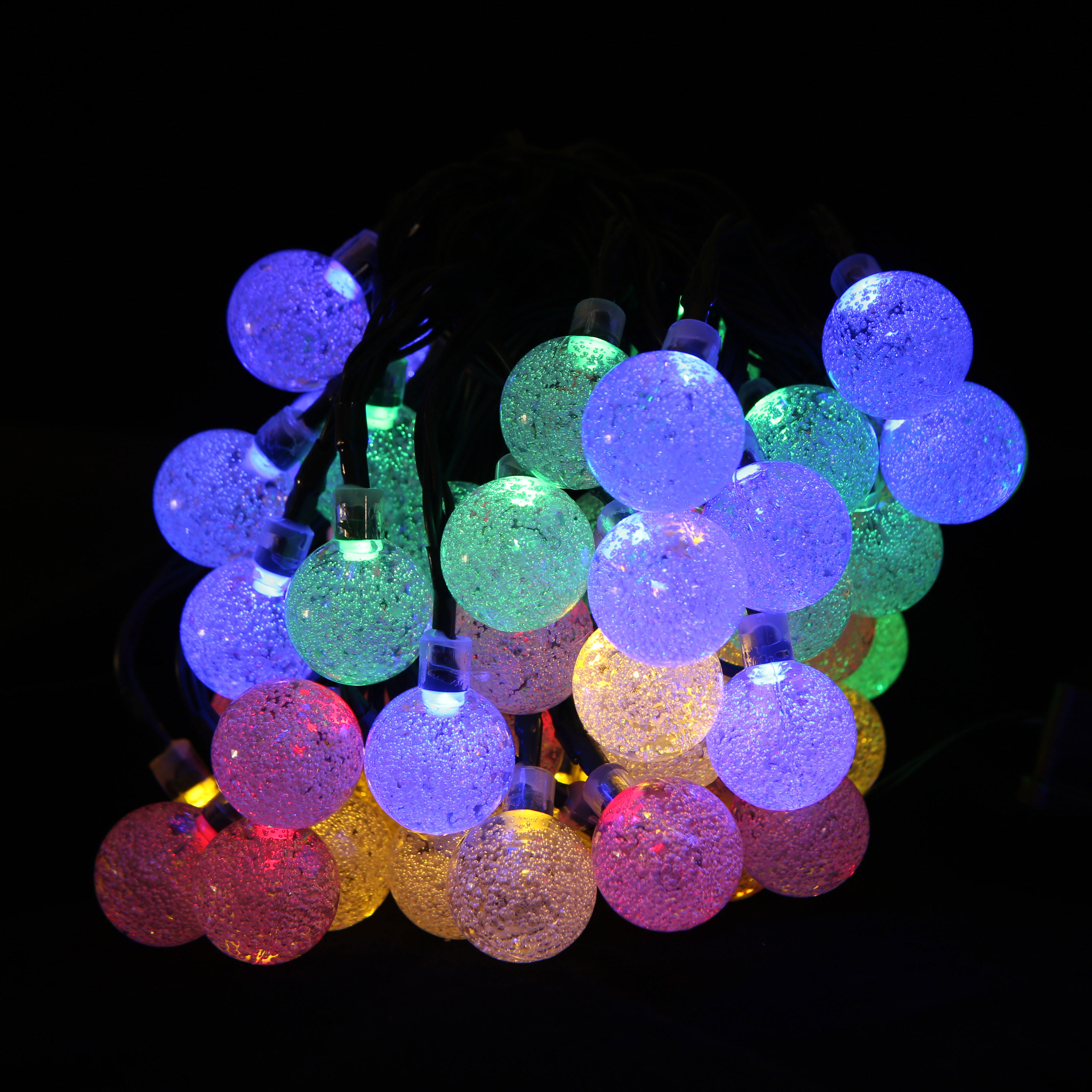 Christmas Solar String Light 30 LED Fairy String Bubble Crystal Ball Lights Decorative for Garland Garden Holiday