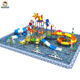 Big Fiberglass Plastic Water Play Equipment Kids Park Water Slide for Swimming Pool