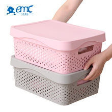 Office home stackable pp plastic kids clothes toy storage box