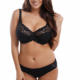 Women's Full Coverage Underwire Lace Bra Plus Size F G H Summer Breathable Non Padded Lace Bra