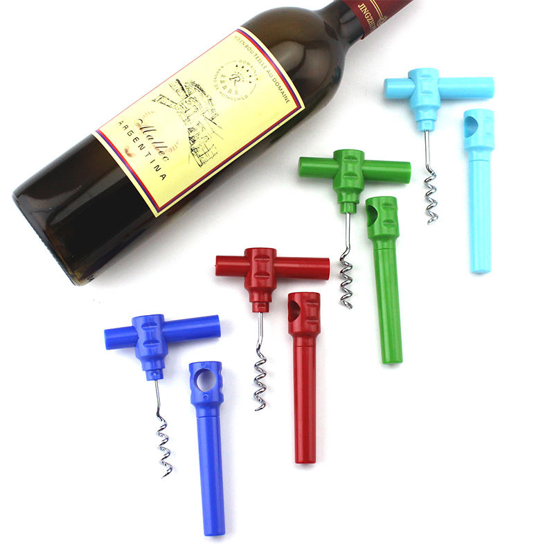 Special novelty custom logo private home stainless steel plastic personality red wine handheld deluxe with knife bottle opener