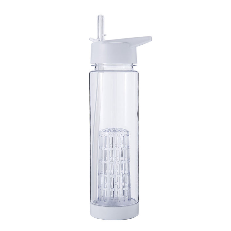 Hot Jual Stock Island Acara TV BPA Free 700 Ml Air Botol Tritan Buah Infuser Botol Air