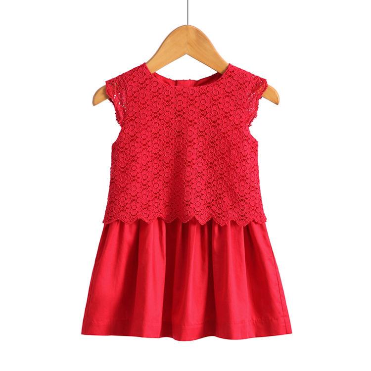 El último diseño de <span class=keywords><strong>moda</strong></span> vestido de fiesta de cumpleaños de la boda de la <span class=keywords><strong>chica</strong></span> vestido de los niños vestido rojo