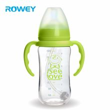 BPA Free 180ml Safe Glass Infant Baby Feeding Water Bottle With Handle