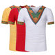 New Fashion V Neck Casual Summer Breathable Dashiki Top Shirt African Clothing Men