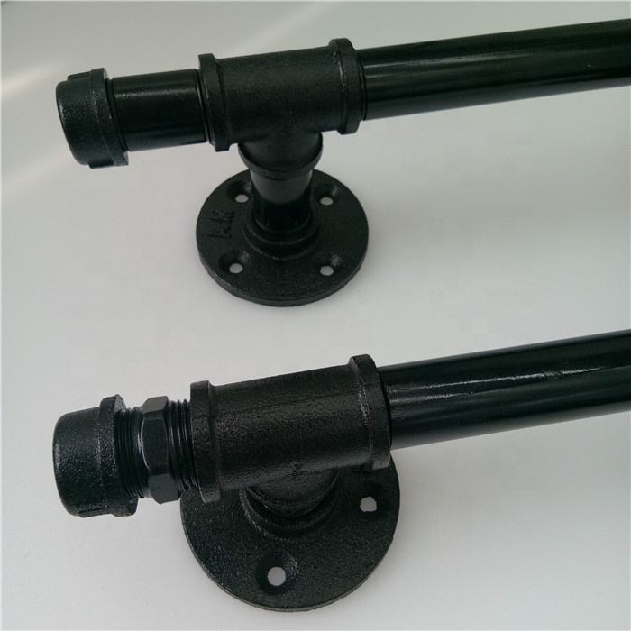 4 hole epoxy coating flange black pipe fittings used for industrial pipe towel rack