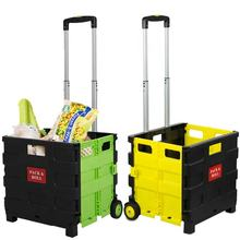 Plastic Portable Foldable Shopping Trolley Folding Shopping Trolley