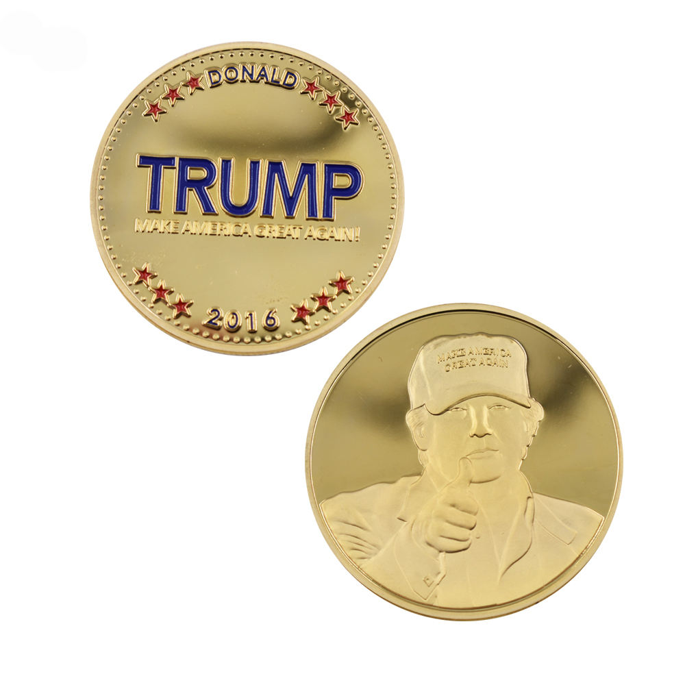 Gold Coin 24k Gold Plated Trump Donald Coin United States The 45th President Metal Coin Home Decoration Metal Crafts