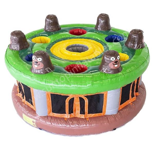 new sports game inflatable whack a mole game with customized theme