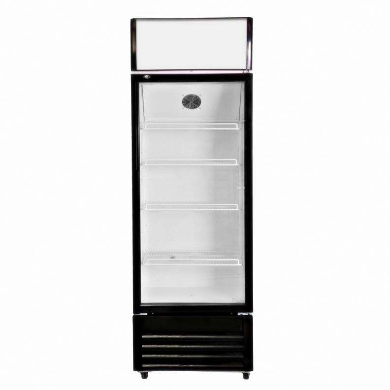 300L Fan Dynamic Cooling upright used commercial single glass door price freezer refrigerator