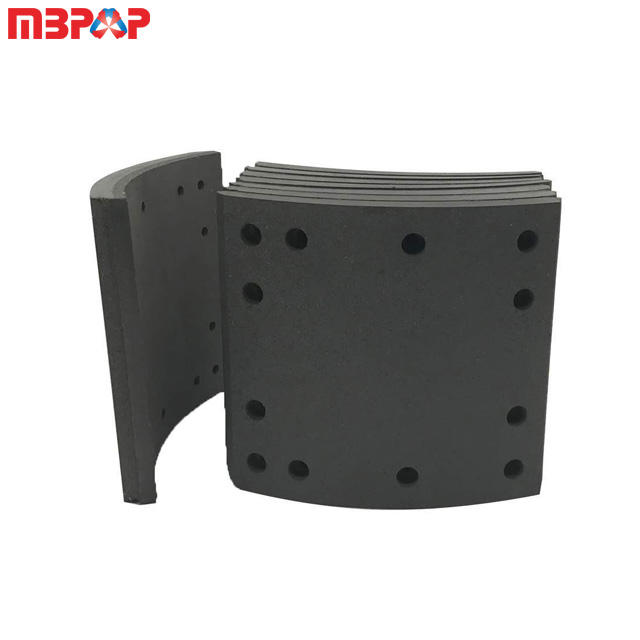 trailer truck part use high quality 4515 brake lining in guangzhou foton howo a7 brake lining