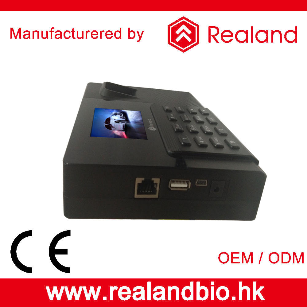 Realand A-F031 Biometric Fingerprint RFID Time Attendance System   Access Control with Backup Battery