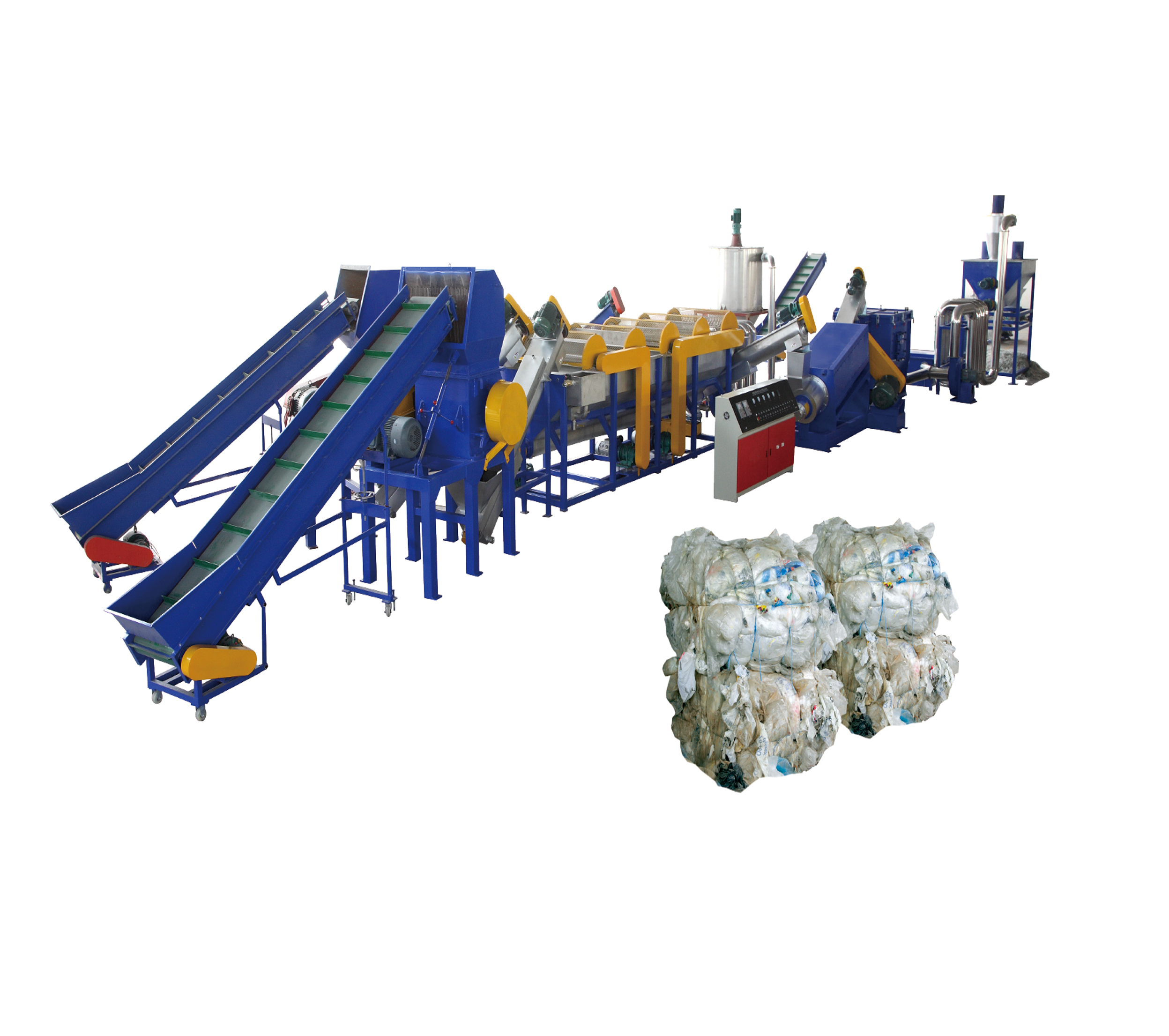 Agrarische Films recycling lijn afval film recycling machine plastic <span class=keywords><strong>folie</strong></span> recycling apparatuur te koop