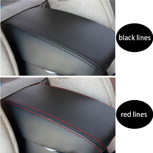 Armrest Centre Armrest Leather Cover Black//Red for Hyundai I20 II ab 2014