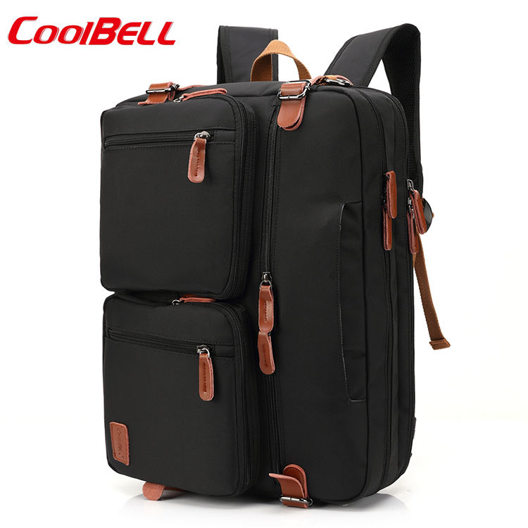 Travel Canvas Business 17 Inch Laptop Backpack 3 in 1 Backpack Laptop 17 Inch
