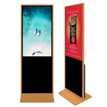 43 49 55 65 75 inch floor stand alone hd lcd sun readable interactive digital signages computer Intel i3 IR touch screen kiosks