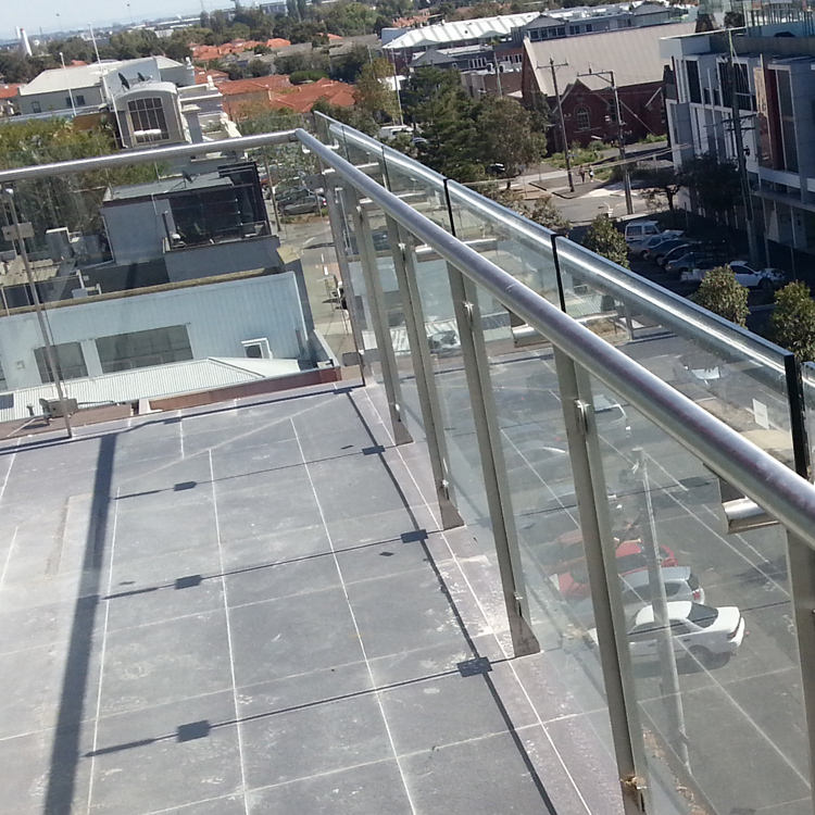 luxury tempered aluminium glass balcony railing