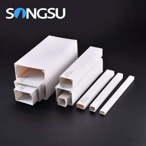Factory Fire-proof pvc trunking 25mmx16mm/plastic cable trunking cover for high standard