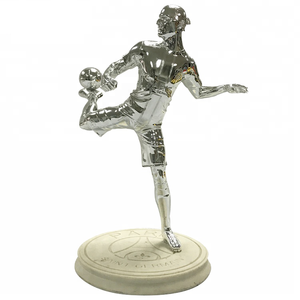 Custom made Paris football match awards trophy resin trophies