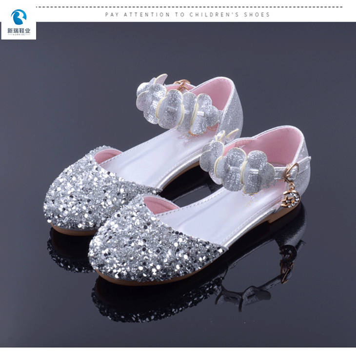 New Design Fancy Cute Cheap Beautiful Girls Shoes Party Princess Glitter Shoes Girl For Kids