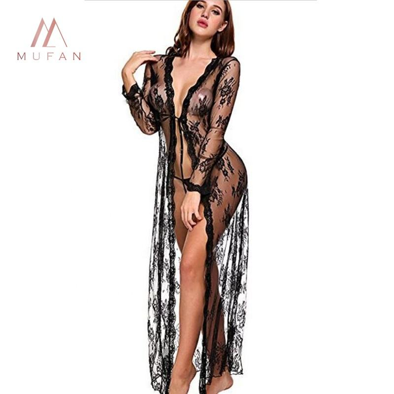 Dessous femininas sexl xxl frauen sheer sehen durch private label sexy dessous robe