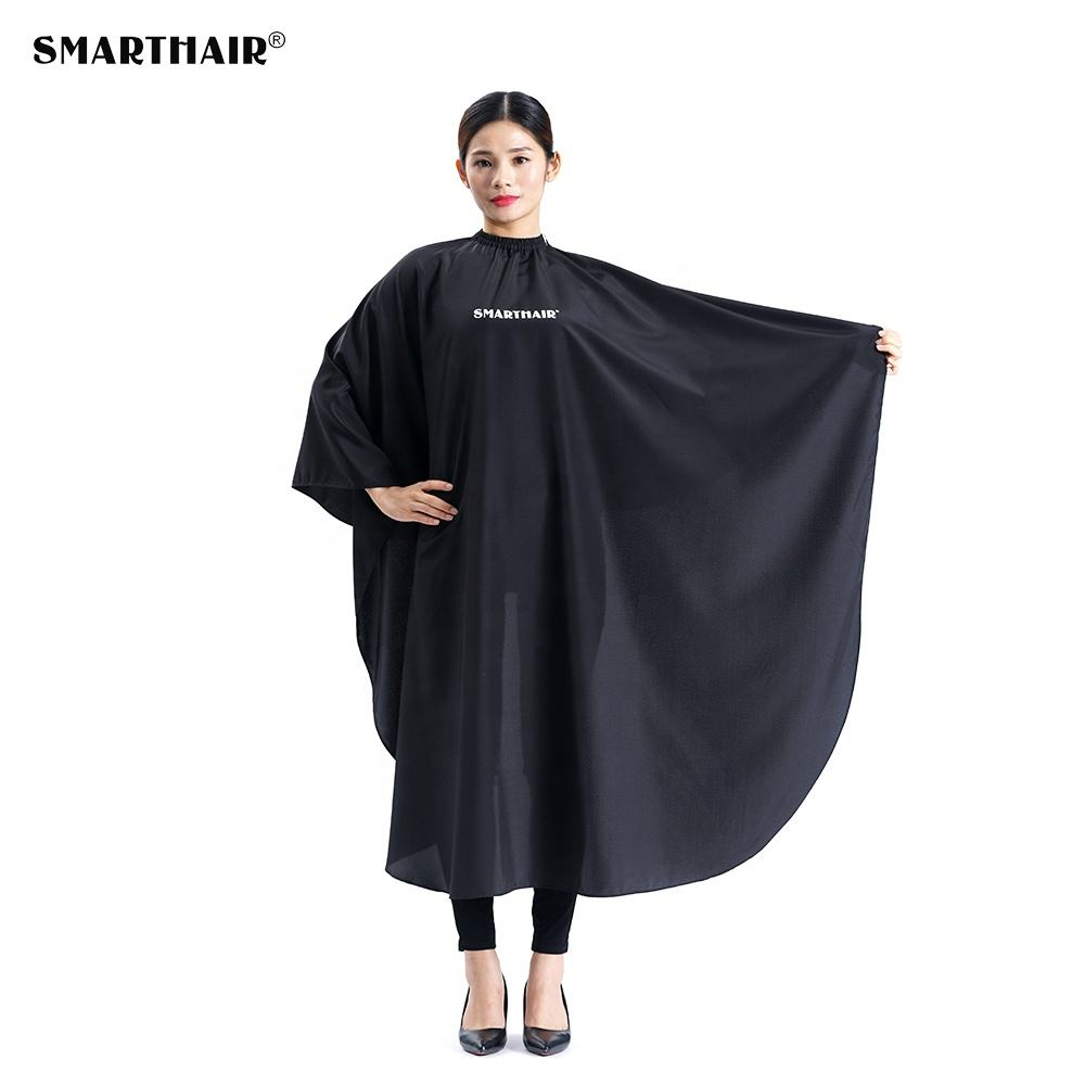 Beauty Custom Barber Salon Logo Printed Hair Cut Hairdressing Waterproof Anti-static Cutting Hairstyling Capes And Smocks Clip