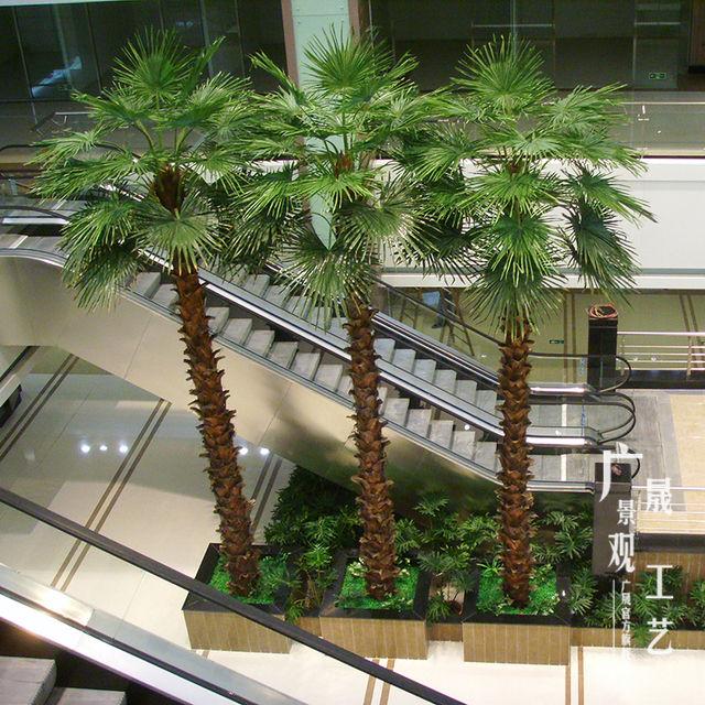工場ワシントン木フェイク植物型人工ヤシの木モデルプラスチック工場カスタム卸売上