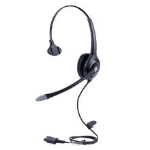 High quality call center telephone headset with Plantronics QD plug