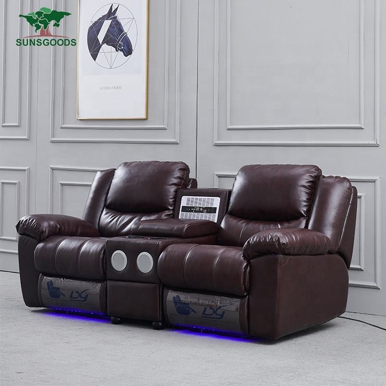 Wholesale furniture design 2 seater cinema recliner recliner chair home theater, home cinema sofa 5 seat