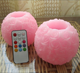 Wedding rose flower ball shaped led remote wax candles