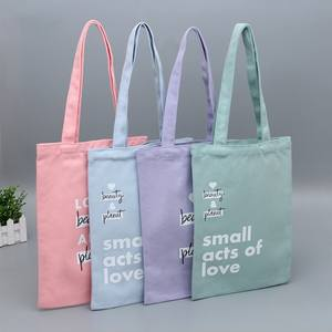 100% naturale stampato calico canvas shopping tote sacchetto di cotone