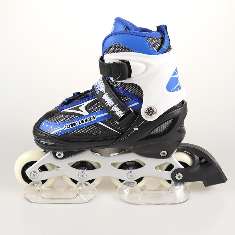 factory low price in stock for wholesale 4 PU wheels adjustable inline roller skate shoe