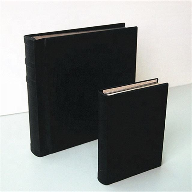 2019 new designed black leather cover 5x7 peel and stick photo album manufacturer in China