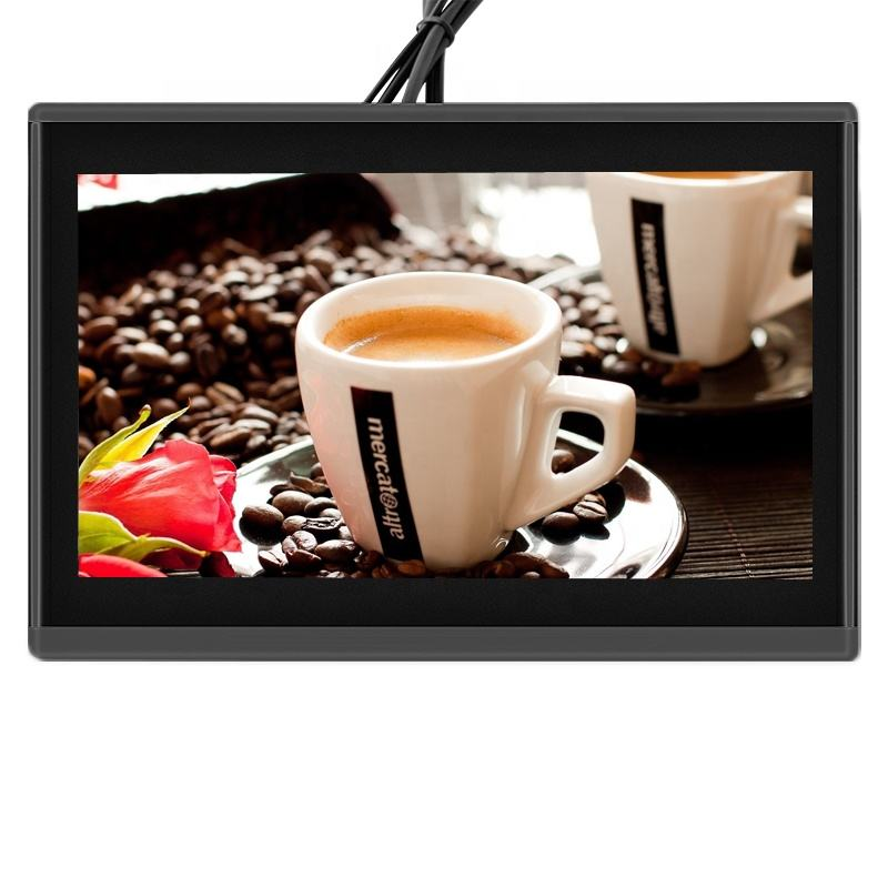 Wifi Auto 10.1 inch touch GPS 4g SIM Android 6.0 auto hoofdsteun monitor voor BUS Taxi reclame lcd display