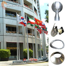 Sparco Outdoor tapered stainless steel manual winch flag pole with flagpole kit