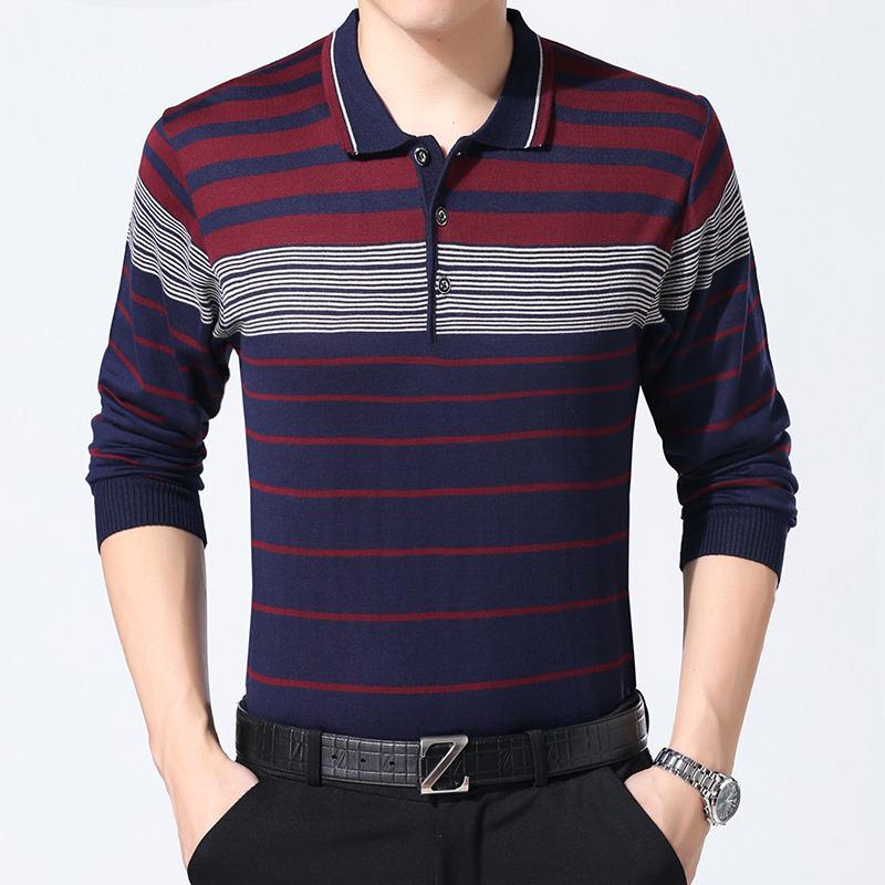 2019 <span class=keywords><strong>Весна</strong></span> Последние хорошее качество плюс размер полоса человек свитер рубашка
