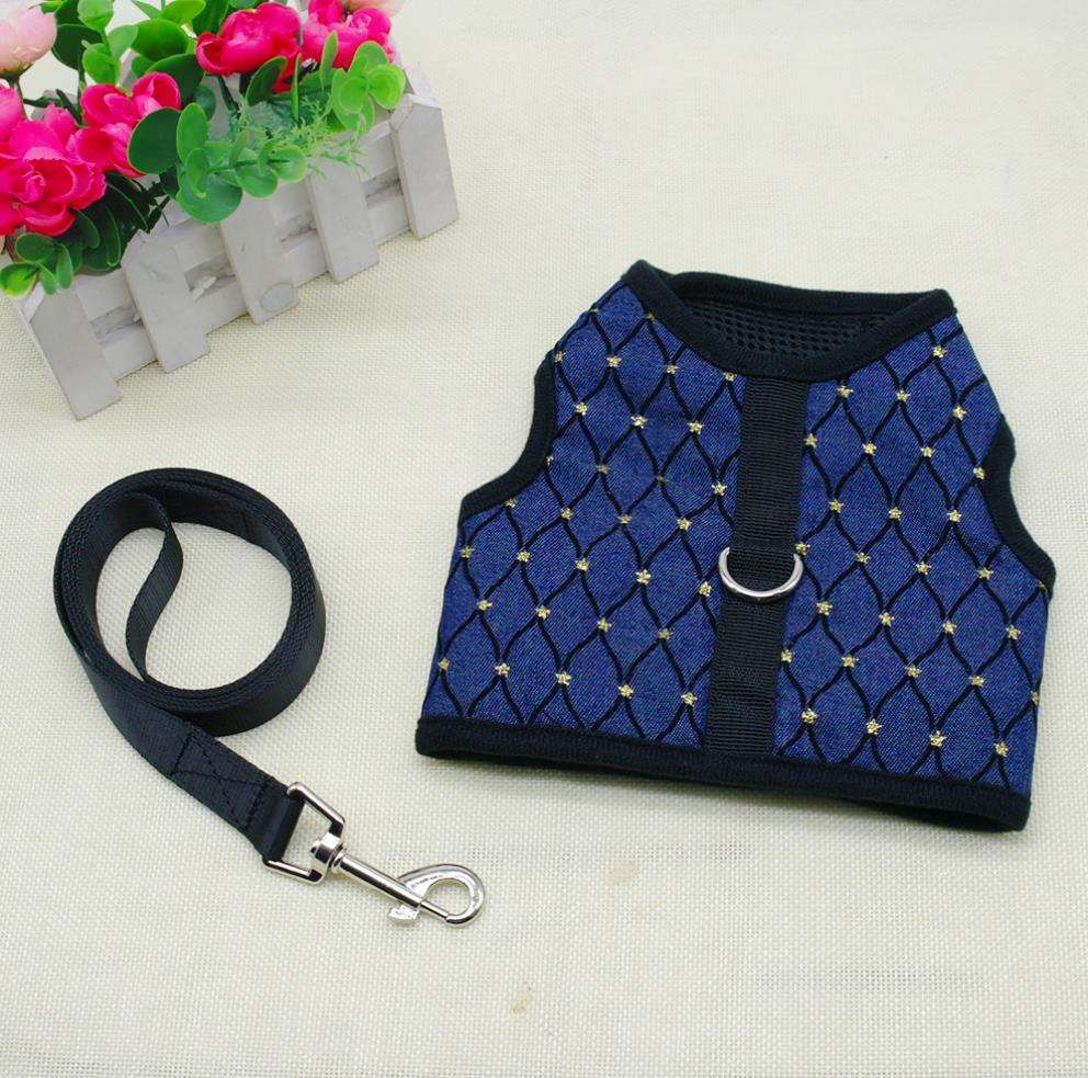 High Quality PuppyDog Harness Lead Leash Set Breathable Mesh Pet Vest Harnesses & Walking Strap For Small Medium Dogs Chihuahua