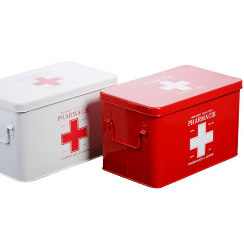 Multi-layered Family Medicine Metal Medical Box Medical First Aid Storage Box Storage Medical Gathering First Aid Box
